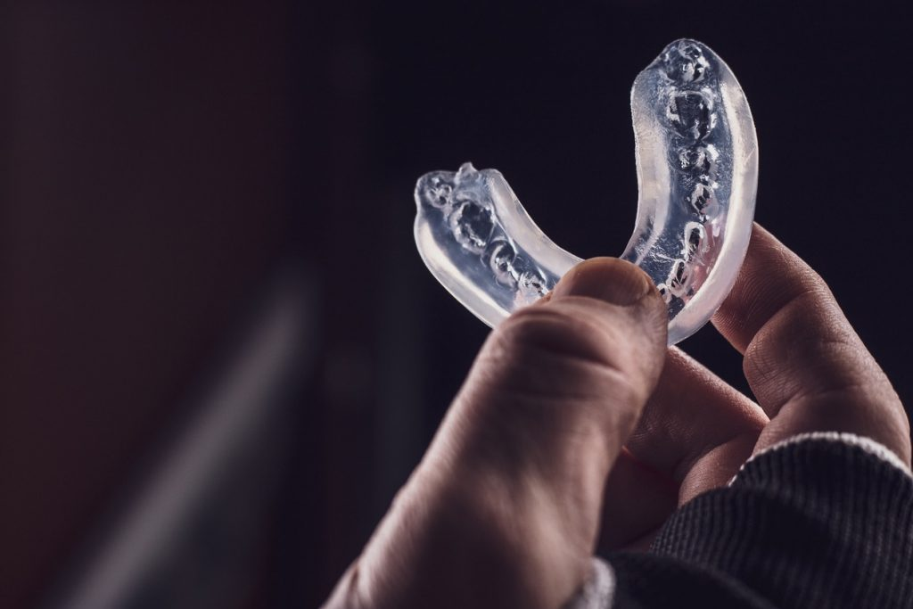 custom mouthguard from orthodontist for teeth protection in sports boxing